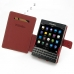 BlackBerry Passport Leather Flip Cover (Red) top quality leather case by PDair