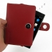 BlackBerry Passport Pouch Leather Holster Case (Red) top quality leather case by PDair