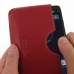 Motorola DROID Turbo Leather Wallet Sleeve Case (Red) genuine leather case by PDair