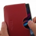 Sony Xperia Z1 Leather Wallet Sleeve Case (Red) genuine leather case by PDair