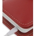 HTC Hero Leather Flip Cover (Red) genuine leather case by PDair