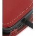 Sprint HTC Touch Pro2 Leather Flip Cover (Red) genuine leather case by PDair