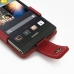 Huawei Ascend P6 Leather Flip Case (Red) genuine leather case by PDair
