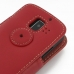 Huawei Ascend Y200 Leather Flip Cover (Red) handmade leather case by PDair