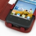 Huawei Ascend Y200 Leather Flip Cover (Red) genuine leather case by PDair