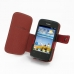 Huawei Ascend Y200 Leather Flip Cover (Red) top quality leather case by PDair