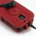 Huawei Ascend Y200 Leather Flip Top Case (Red) protective carrying case by PDair