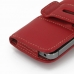 iPhone 5 5s Leather Holster Case (Red) protective carrying case by PDair
