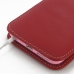 iPhone 6 6s Plus (in Slim Cover) Pouch Case (Red) handmade leather case by PDair