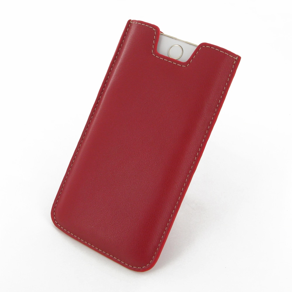 iphone 6 6s plus leather sleeve red pdair sleeve. Black Bedroom Furniture Sets. Home Design Ideas