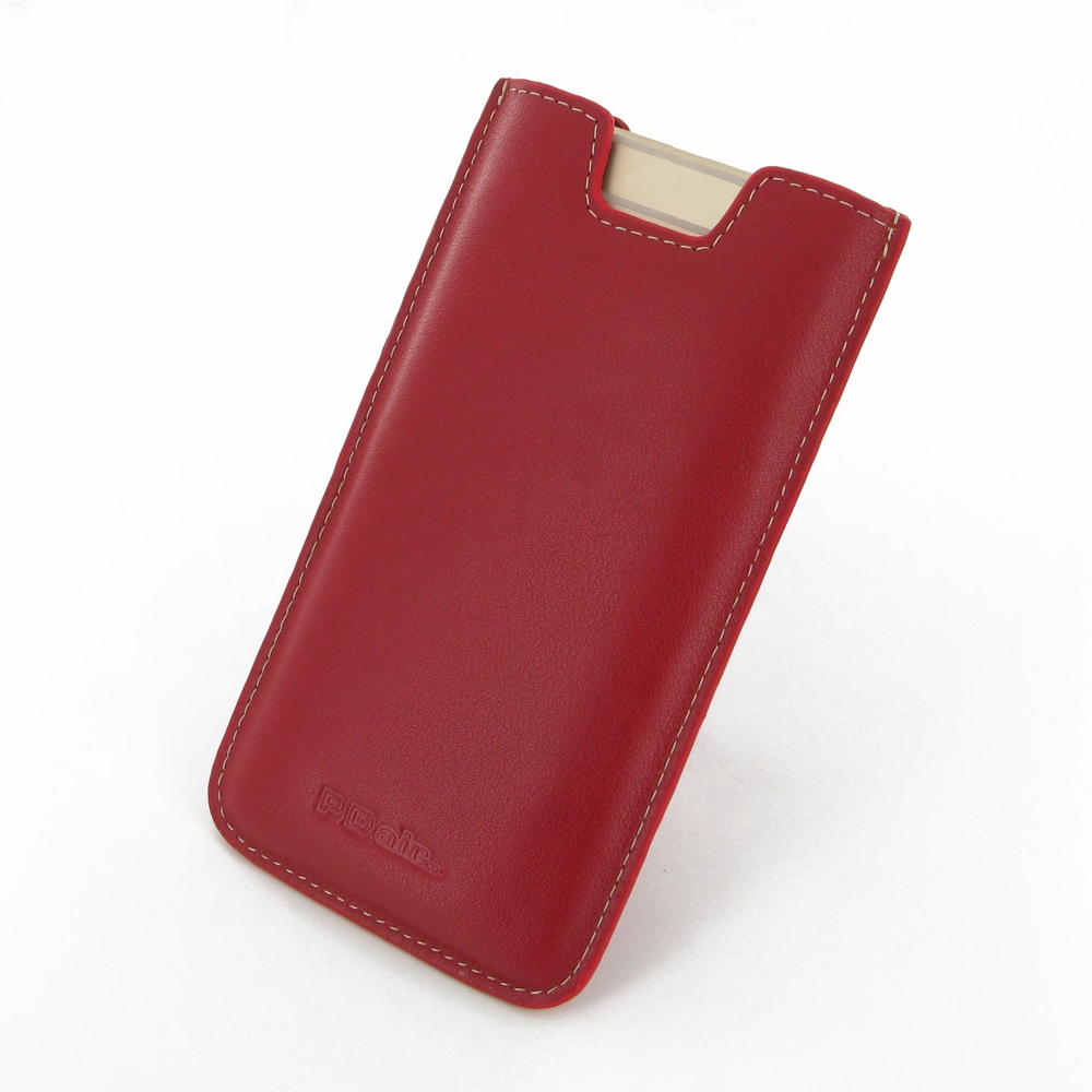 iphone 6 6s plus leather sleeve red pdair sleeve pouch holster. Black Bedroom Furniture Sets. Home Design Ideas
