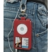 iPod Classic 80GB Leather Sleeve Case with Clip (Red) custom degsined carrying case by PDair