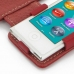 iPod nano 8th / nano 7th Leather Flip Cover (Red) genuine leather case by PDair