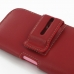 iPhone 6 6s (in Slim Cover) Holster Case (Red) handmade leather case by PDair