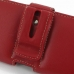 Motorola Droid Razr Maxx HD Leather Holster Case (Red) genuine leather case by PDair