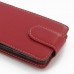 Motorola Droid Maxx Leather Flip Top Carry Case (Red) protective carrying case by PDair