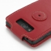 Motorola Droid Maxx Leather Flip Top Carry Case (Red) handmade leather case by PDair