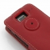 Motorola Razr i Leather Flip Top Case (Red) protective carrying case by PDair