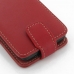 Motorola Razr i Leather Flip Top Case (Red) handmade leather case by PDair