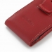 Motorola Droid Razr Maxx Pouch Case with Belt Clip (Red) genuine leather case by PDair