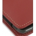 Nokia E71 Pouch Case with Belt Clip (Red) genuine leather case by PDair