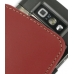 Nokia E71 Leather Sleeve Pouch Case (Red) protective carrying case by PDair