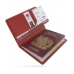 Travel Passport Leather Wallet Holder Case (Red) genuine leather case by PDair