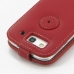 Samsung Galaxy S3 Leather Flip Top Case (Red) protective carrying case by PDair