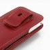 Samsung Galaxy S WiFi 4.0 Pouch Case with Belt Clip (Red) handmade leather case by PDair