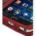 Samsung Galaxy S WiFi 5.0 Leather Flip Cover (Red) handmade leather case by PDair