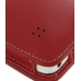 Samsung Galaxy S WiFi 5.0 Leather Flip Cover (Red) top quality leather case by PDair