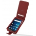 Samsung Galaxy S WiFi 5.0 Leather Flip Case (Red) custom degsined carrying case by PDair