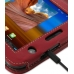 Samsung Galaxy Tab 7.0 Plus Leather Flip Carry Cover (Red) handmade leather case by PDair