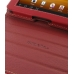 Samsung Galaxy Tab 7.0 Plus Leather Flip Carry Cover (Red) custom degsined carrying case by PDair