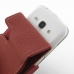Samsung Galaxy Ace 3 Leather Flip Case (Red) genuine leather case by PDair