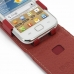 Samsung Galaxy Ace Duos Leather Flip Top Case (Red) genuine leather case by PDair