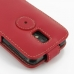 Samsung Galaxy S2 Epic Leather Flip Top Case (Red) protective carrying case by PDair