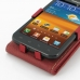 Samsung Galaxy S2 Epic Leather Flip Top Case (Red) genuine leather case by PDair