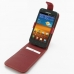 Samsung Galaxy S2 Epic Leather Flip Top Case (Red) top quality leather case by PDair