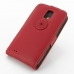 Samsung Galaxy S2 Epic Leather Flip Top Case (Red) custom degsined carrying case by PDair