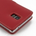 Samsung Galaxy Note 4 Leather Flip Cover (Red) protective carrying case by PDair