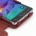 Samsung Galaxy Note 4 Leather Flip Cover (Red) genuine leather case by PDair