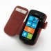 Samsung Focus Leather Flip Cover (Red) top quality leather case by PDair