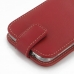 Samsung Galaxy S4 Leather Flip Top Case (Red) handmade leather case by PDair
