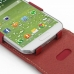 Samsung Galaxy S4 Leather Flip Top Case (Red) genuine leather case by PDair