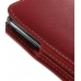 Samsung Galaxy Note Pouch Case with Belt Clip (Red) genuine leather case by PDair