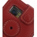 Samsung i8000 Omnia II Leather Sleeve Case (Red) protective carrying case by PDair