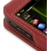 Samsung i8000 Omnia II Leather Sleeve Case (Red) handmade leather case by PDair
