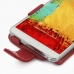Samsung Galaxy Note 3 Leather Flip Case (Red) genuine leather case by PDair