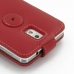 Samsung Galaxy Note 3 Leather Flip Top Case (Red) protective carrying case by PDair
